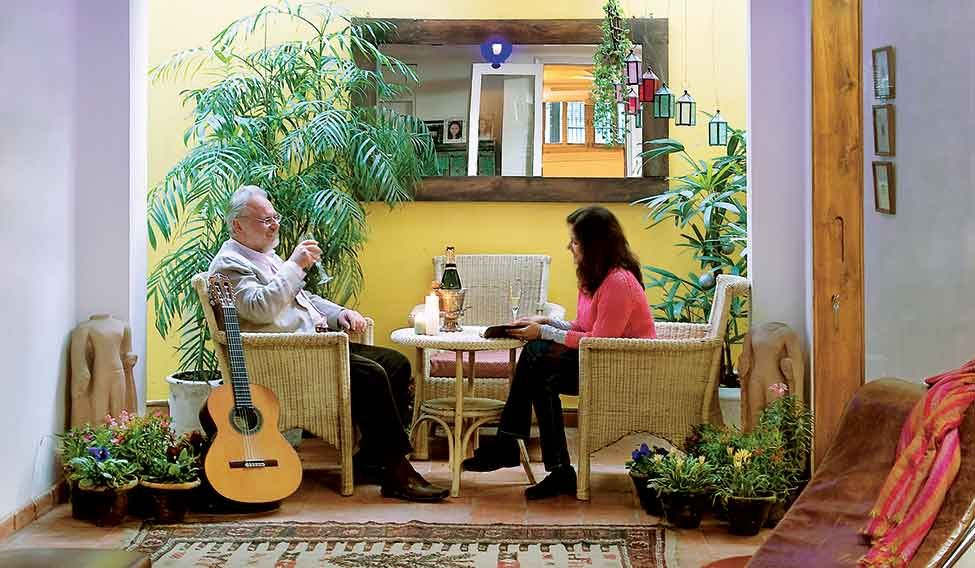 Refined Living: Mark Knowles, Dean Of Sushant School Of Design, With Wife,  Preeti | AMIT PASRICHA