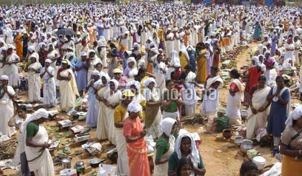 File Lakhs Of Women Devotees Thronged Thiruvananthapuram To Offer Pongala At Attukal Temple