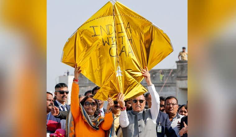 Pro and anti CAA kites fight it out in Gujarat skies on Makar Sankranti day