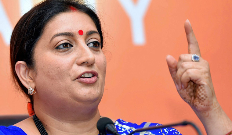 Do not disrespect religious practices for making headlines: Smriti Irani on Sabarimala row