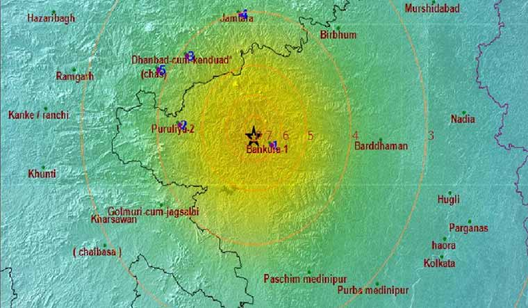 Earthquakes in West Bengal, Jharkhand, Andaman and Nicobar islands