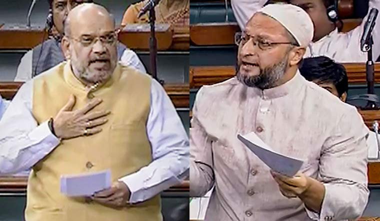 'Learn to listen,' Amit Shah tells Owaisi; 'Don't scare us,' retorts AIMIM leader