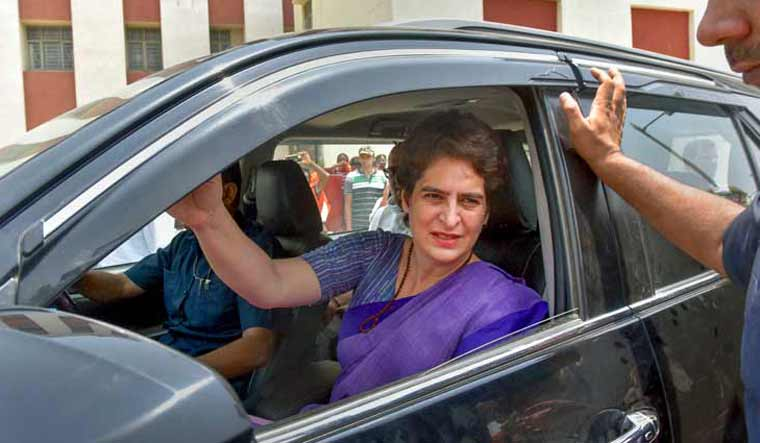 Priyanka Gandhi under detention at UP, determined to meet victims' families