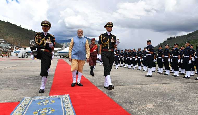 PM Modi arrives in Bhutan for two-day visit