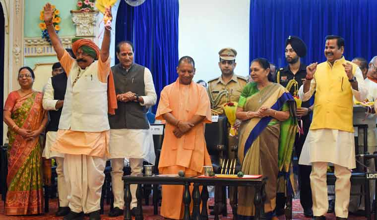 18 new faces inducted as Yogi expands cabinet in UP