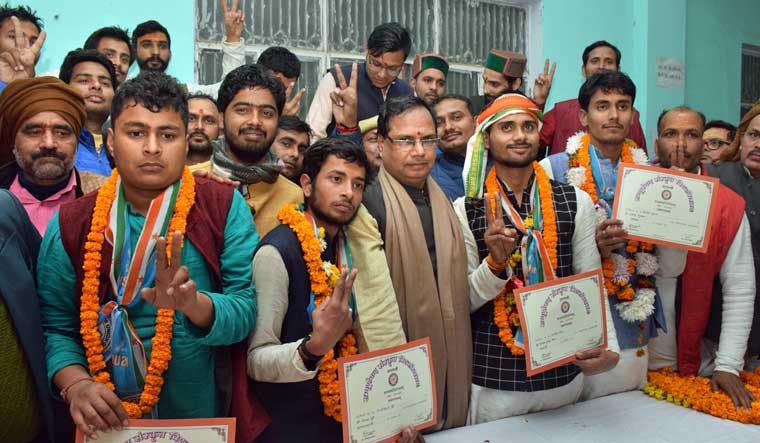 NSUI victory at Varanasi University of Sanskrit not relevant to external factors