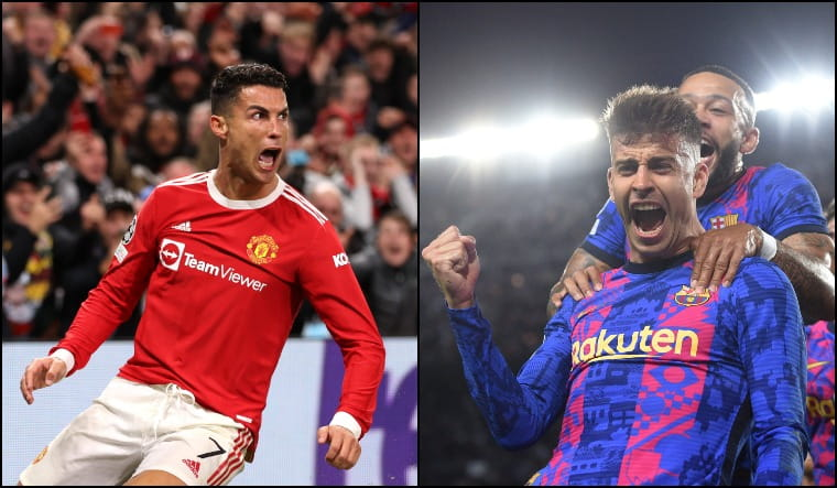 Champions League: Pique and Ronaldo's goals rescue Barcelona, United - The Week