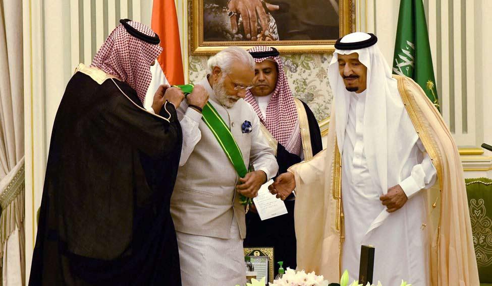 Saudi Arabia honours Modi
